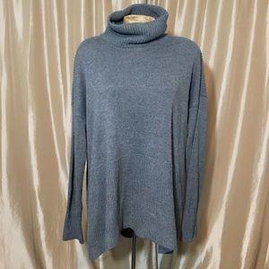 Lou & Grey Hi Low Turtleneck Sweater Sz XL